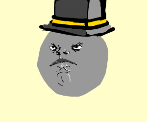 Sentient marble with top hat