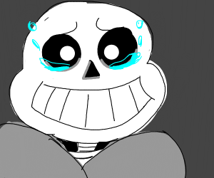 sans has anti gravity tears