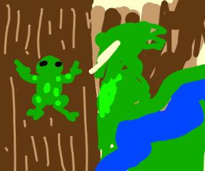 rainforest frog saying hey