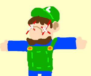 Luigi with lazer vision