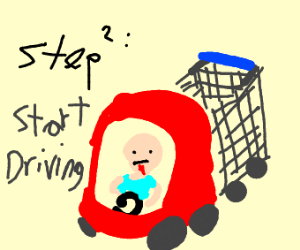 Step 1: Hop in your toddler car