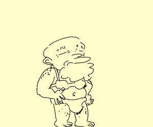 Old man in a bikini