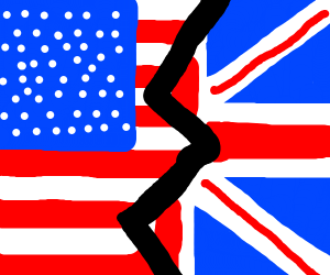 Old brits and old America flag combined