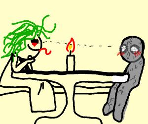 Medusa's first date