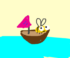 Bee on a boat