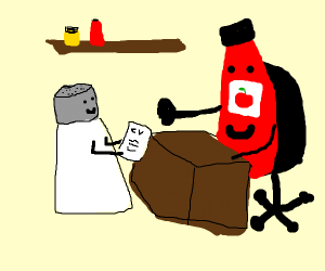Salt gets a job in the condiments industry