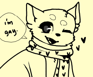 Gay dog being honest and open