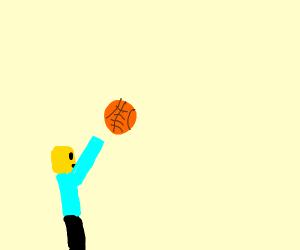 Roblox mans ball hits the basket