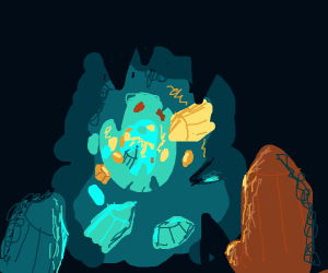 a crystal cavern
