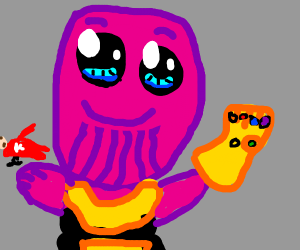 Thanos but with Kawaii eyes