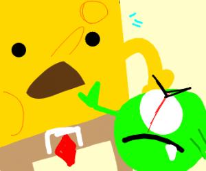 Mike Wazowski and Spongebob
