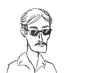Extremely rich guy with sunglasses