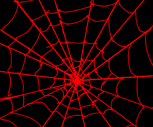 red spider webs