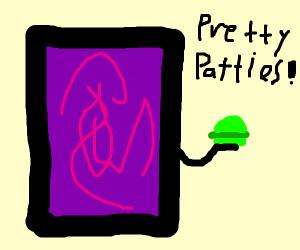 The burger portal provides green hamburgers