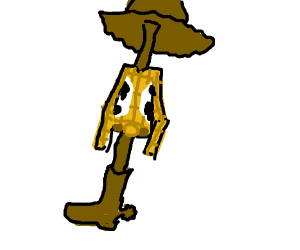Woody (toy story) is a stick