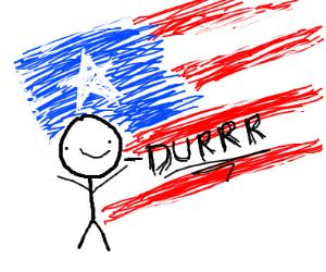 Mercan flag says DURRR