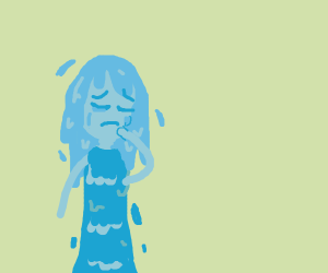 girl made of water is crying