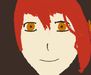 anime red haired girl :]