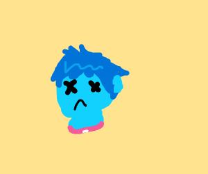 Blue Decapitated Head