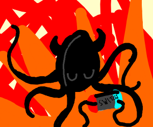 demon squid plays nintendo switch