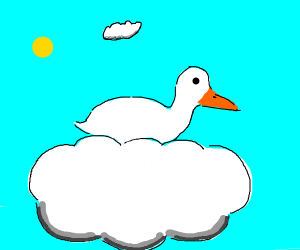 Duck on a cloud