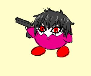 oh god oh heck kirbys got a gun