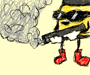 Bullet-Kin with sunglasses shooting an RPG