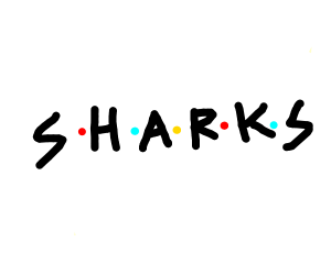 Friends logo but sharks