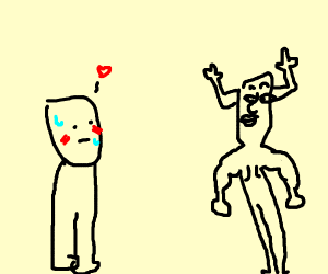 Crush on hot reindeer guy