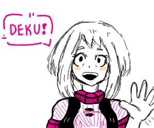 anime girl says deku