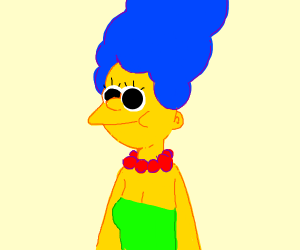 Marge from the Simpsons