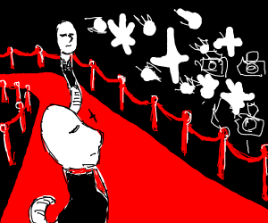 White worms strutting down the red carpet