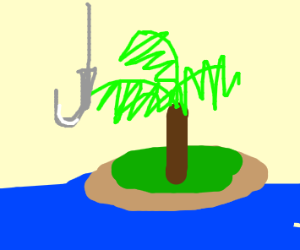 Desert Island with Tree and Hooks