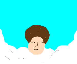 Bob Ross in Heaven with his Best Friend