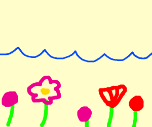 A spring in the ocean