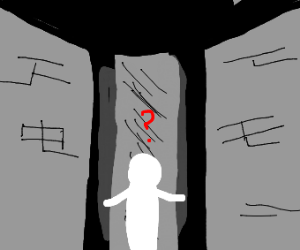 Confused man in maze
