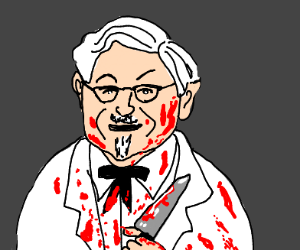 Psychotic murderer Colonel Sanders