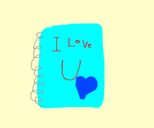 a notebook that says i love you