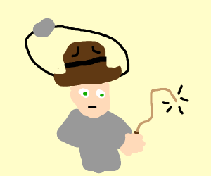 Grey potato orbits onto Indiana Jones
