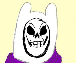 Skeletor wears Finn the Human's hat
