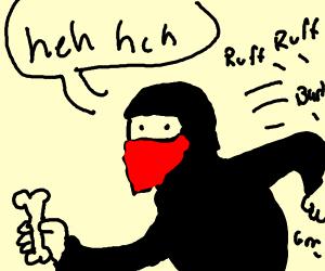 ninja with bone