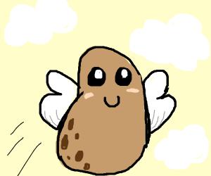 cuta, happy flying potato