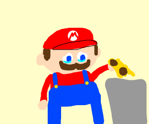 Mario was forced to throw away his spaghetti