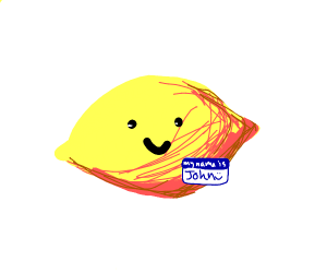 A lemon named John