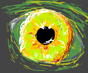 eye of a green person