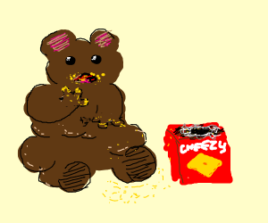 Bear ate all the cheezies