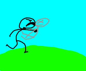 Stickman punches Gray stickman to kill it