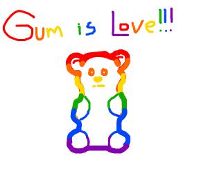 gay pride gummy bear