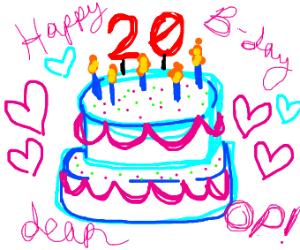it's my birthday! 20!