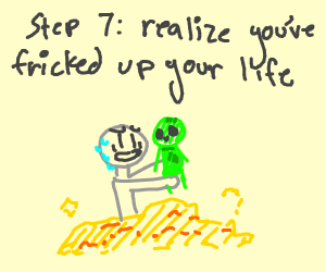 step 6 have alien baby in pile of gold